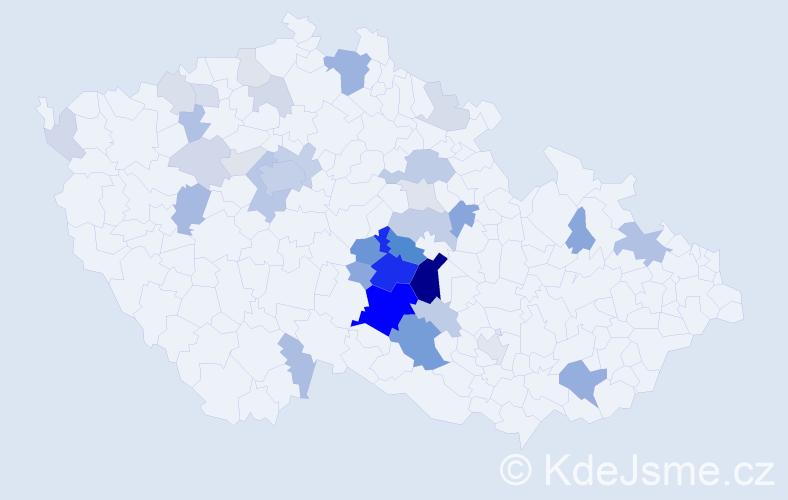 Příjmení: 'Bruknerová', počet výskytů 110 v celé ČR