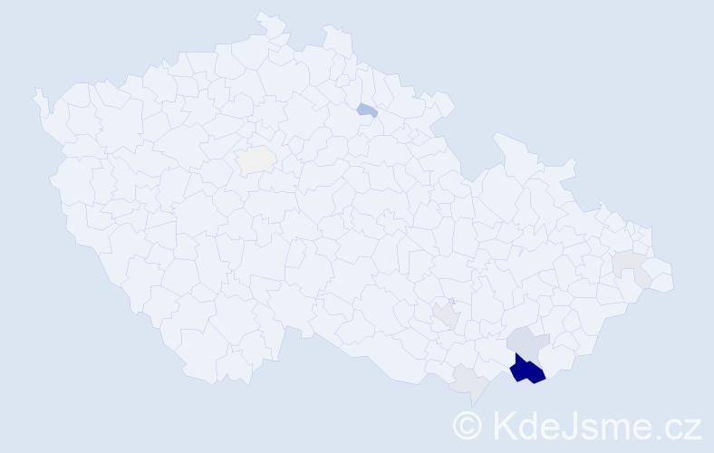 Příjmení: 'Čerešňáková', počet výskytů 31 v celé ČR