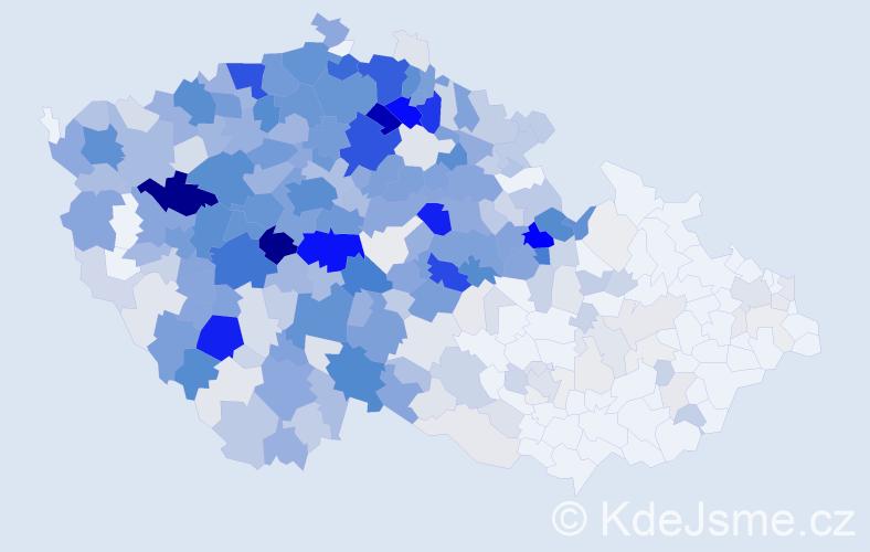 Příjmení: 'Kočová', počet výskytů 1986 v celé ČR