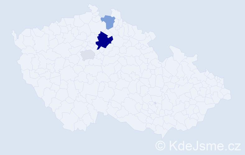 Příjmení: 'Ledrhaus', počet výskytů 5 v celé ČR