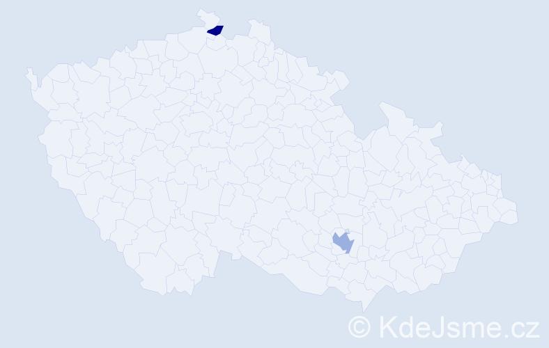 Příjmení: 'Dahmen', počet výskytů 3 v celé ČR