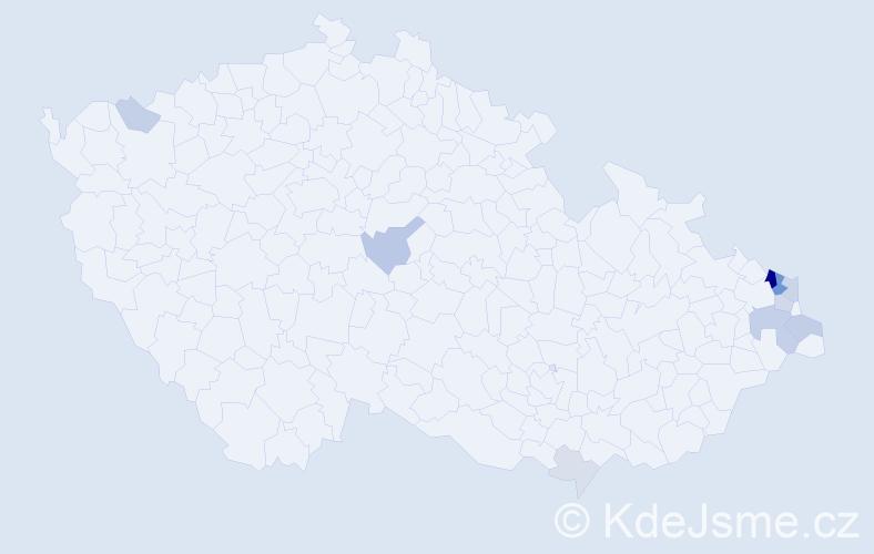 Příjmení: 'Babisz', počet výskytů 30 v celé ČR