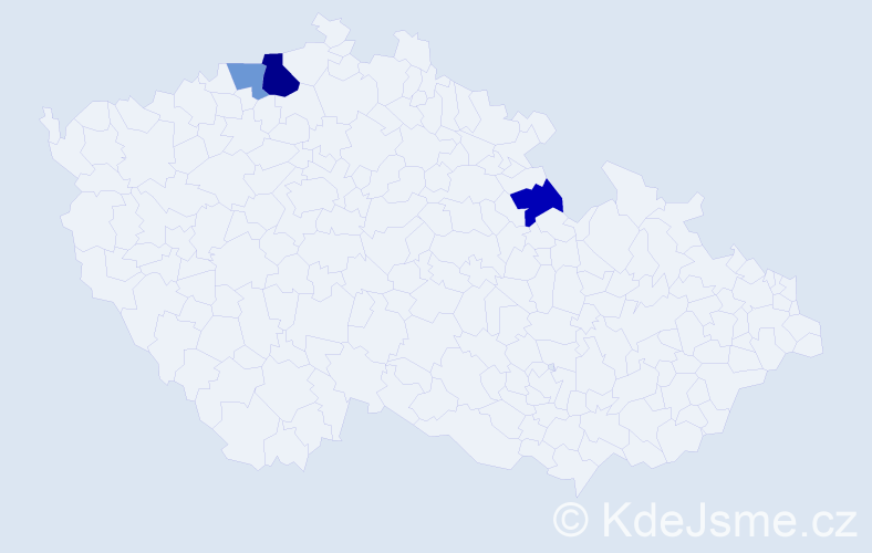 Příjmení: 'Böckerová', počet výskytů 5 v celé ČR