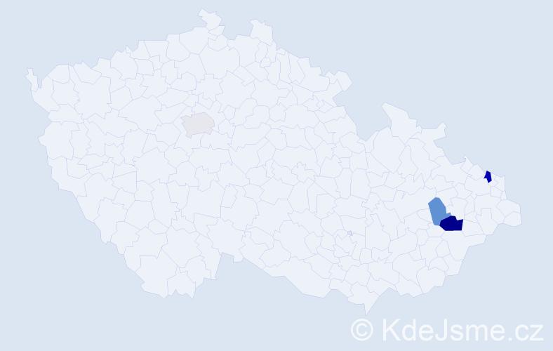 Příjmení: 'Chrupková', počet výskytů 7 v celé ČR