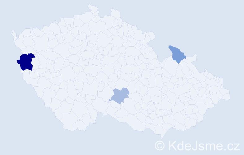 Příjmení: 'Dallinger', počet výskytů 5 v celé ČR