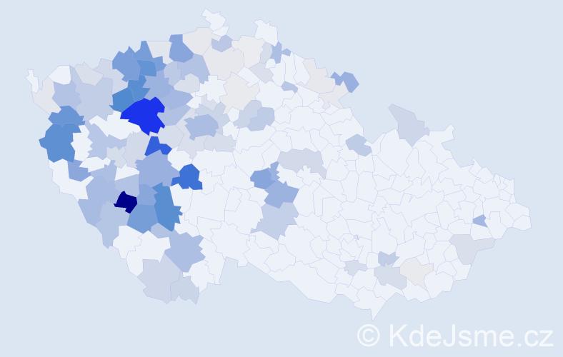 Příjmení: 'Kořánová', počet výskytů 378 v celé ČR