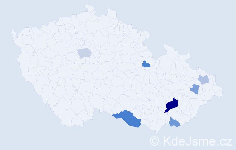 Příjmení: 'Lecianová', počet výskytů 17 v celé ČR