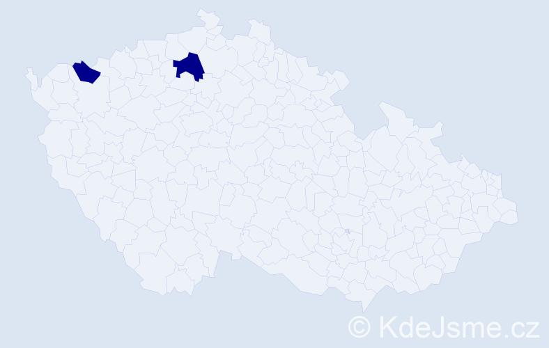 Příjmení: 'Brkoslav', počet výskytů 3 v celé ČR