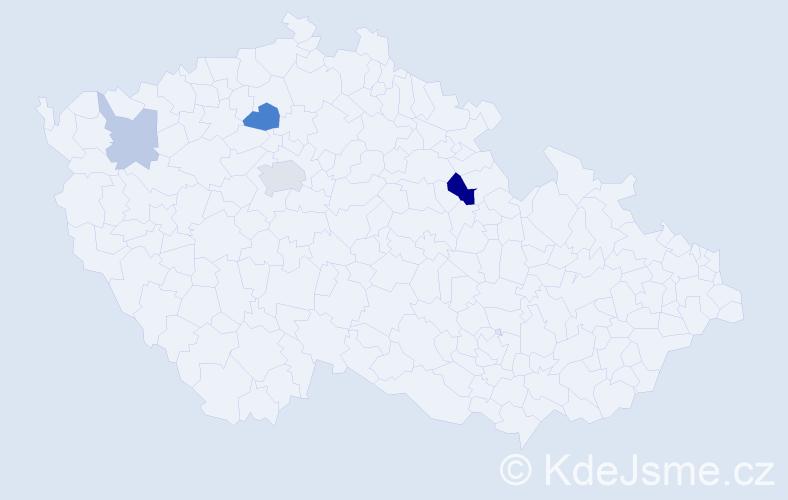 Příjmení: 'Hijazi', počet výskytů 9 v celé ČR