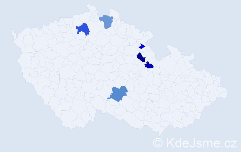Příjmení: 'Kristuf', počet výskytů 14 v celé ČR
