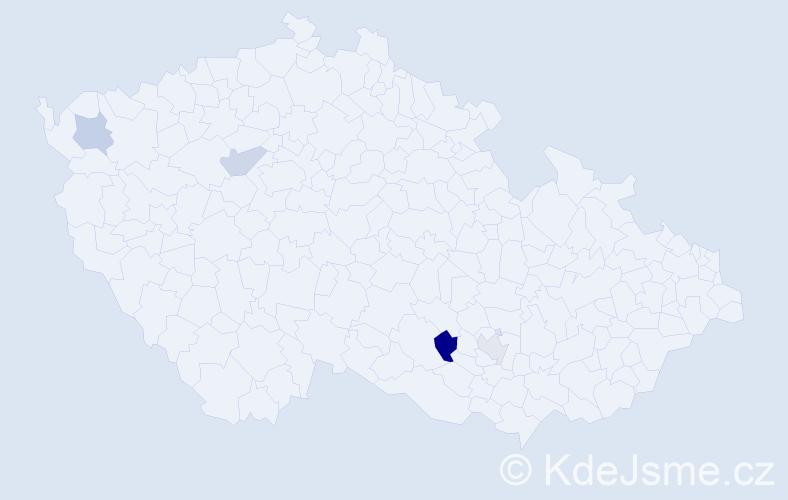 Příjmení: 'Čipák', počet výskytů 5 v celé ČR