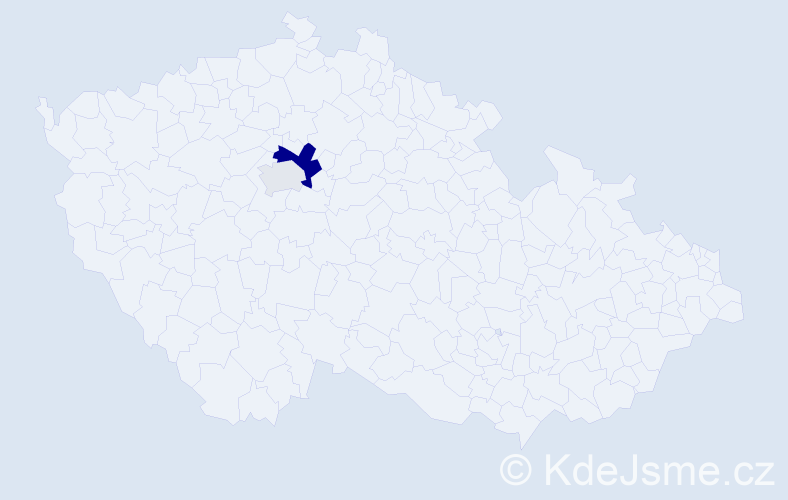 Příjmení: 'Hölgye', počet výskytů 5 v celé ČR