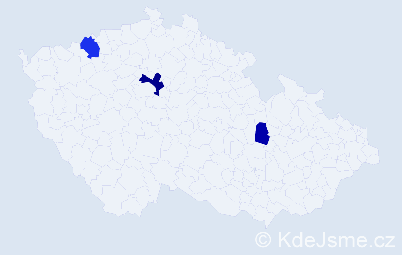 Příjmení: 'Legat', počet výskytů 6 v celé ČR