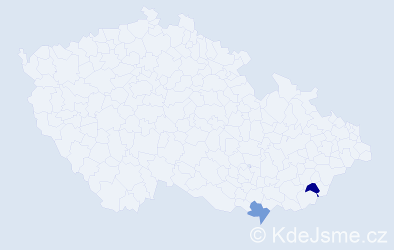 Příjmení: 'Asuquo', počet výskytů 2 v celé ČR