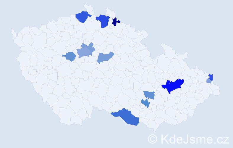 Příjmení: 'Bartovič', počet výskytů 31 v celé ČR