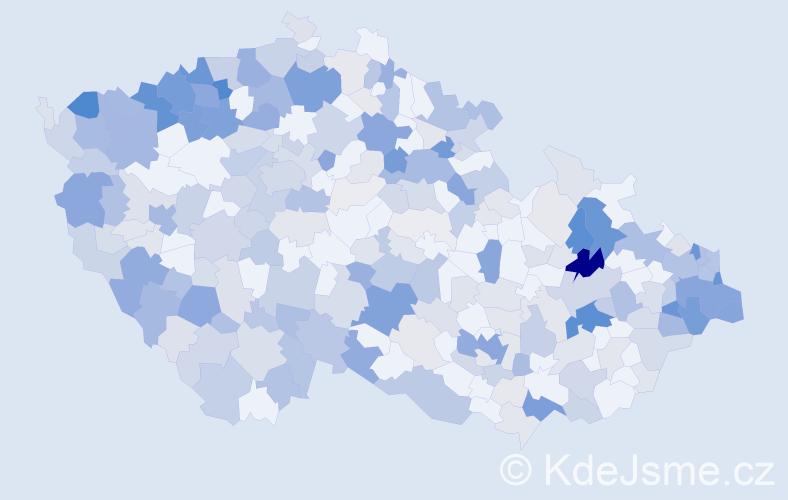 Příjmení: 'Lacková', počet výskytů 1197 v celé ČR