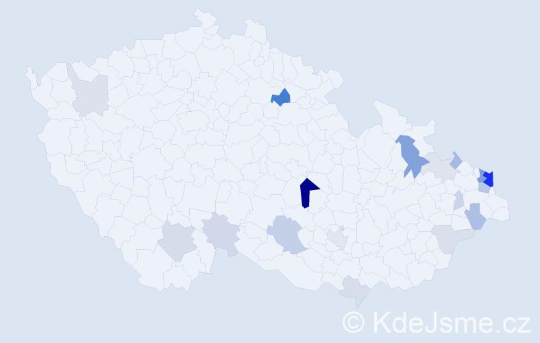 Příjmení: 'Fogašová', počet výskytů 48 v celé ČR