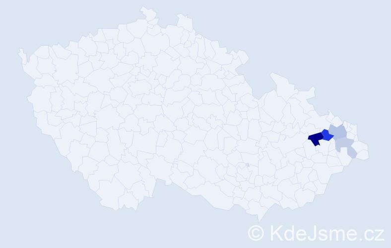 Příjmení: 'Jendrysek', počet výskytů 8 v celé ČR