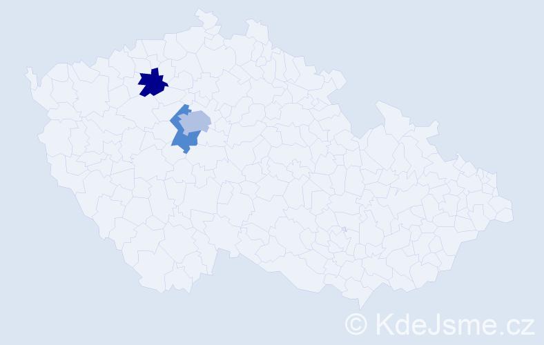 Příjmení: 'Čochnerová', počet výskytů 4 v celé ČR