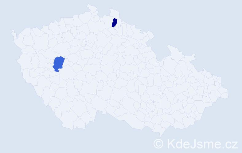 Příjmení: 'Cironis', počet výskytů 6 v celé ČR