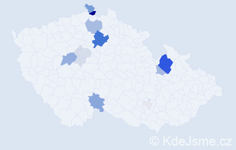 Příjmení: 'Činková', počet výskytů 40 v celé ČR