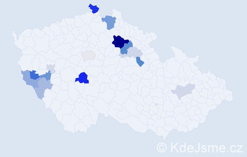 Příjmení: 'Frumert', počet výskytů 27 v celé ČR