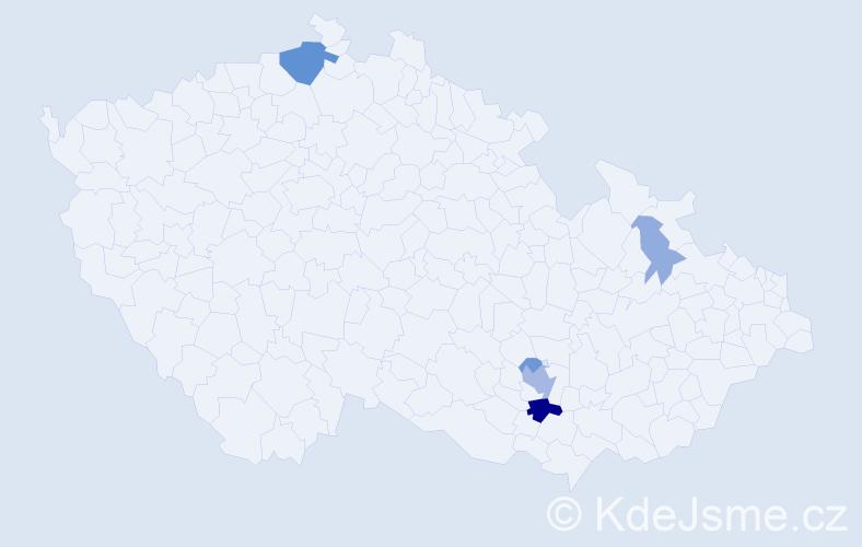 Příjmení: 'Cimbalník', počet výskytů 15 v celé ČR
