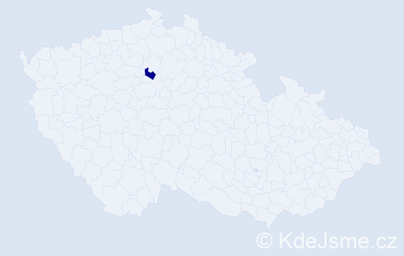 Příjmení: 'Csicsaiová', počet výskytů 1 v celé ČR