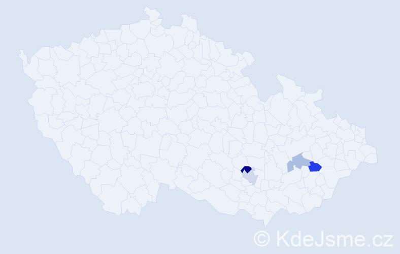 Příjmení: 'Florec', počet výskytů 11 v celé ČR