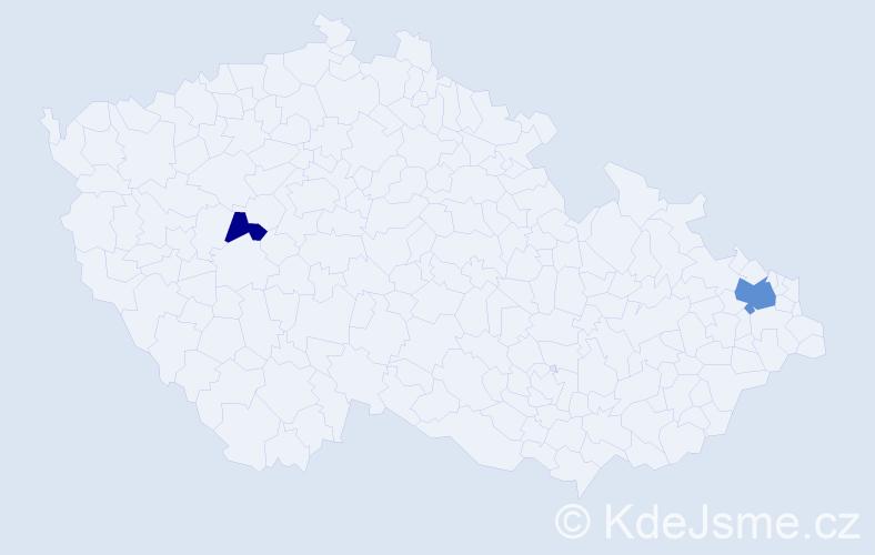 Příjmení: 'Bendžuch', počet výskytů 4 v celé ČR