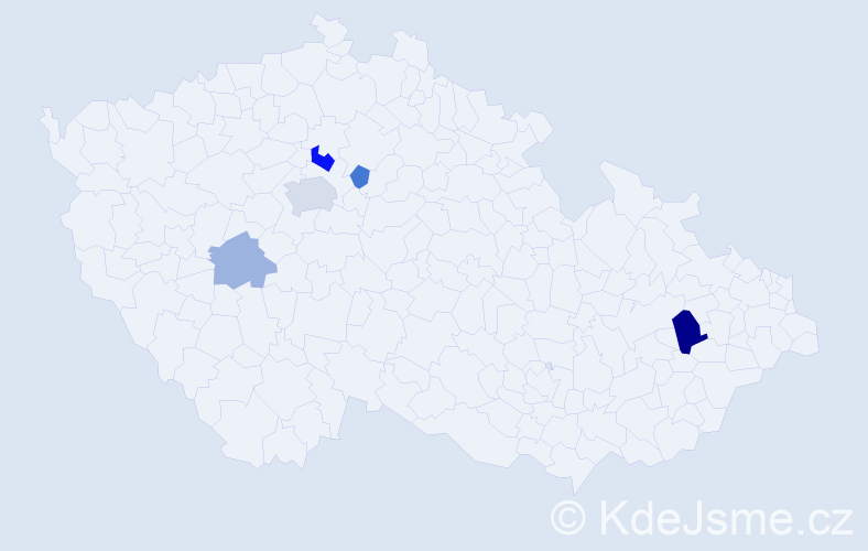 Příjmení: 'Janičko', počet výskytů 10 v celé ČR