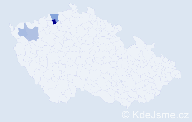 Příjmení: 'Hemerlíková', počet výskytů 6 v celé ČR