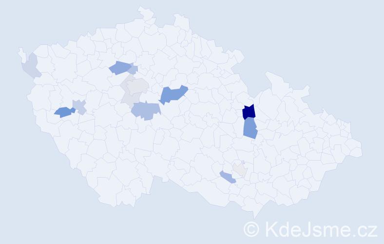 Příjmení: 'Černušák', počet výskytů 32 v celé ČR