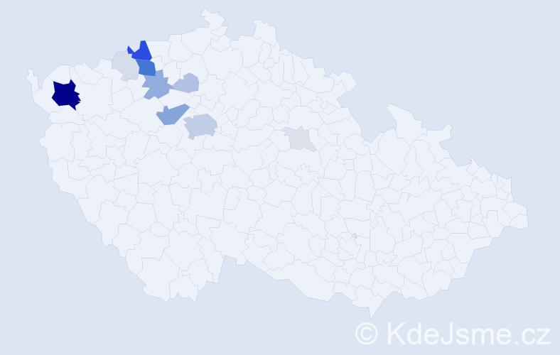 Příjmení: 'Immer', počet výskytů 57 v celé ČR
