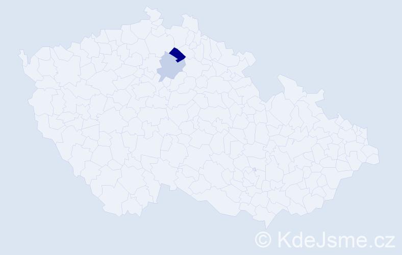 Příjmení: 'Kafluk', počet výskytů 3 v celé ČR