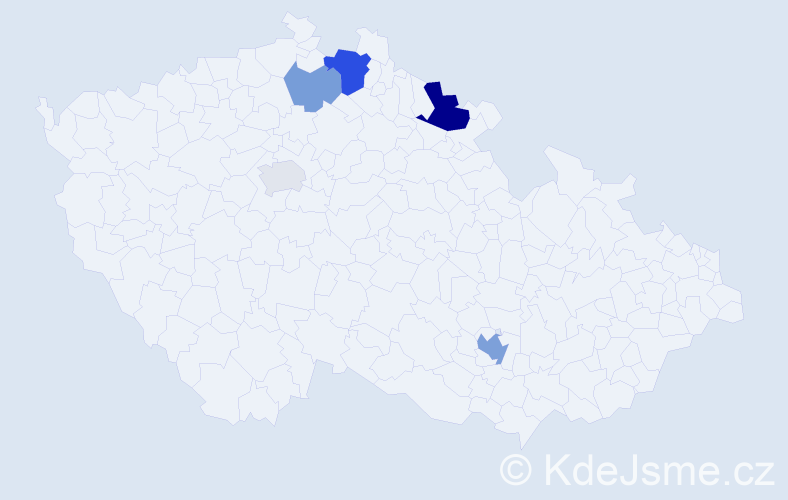 Příjmení: 'Jaďuď', počet výskytů 11 v celé ČR
