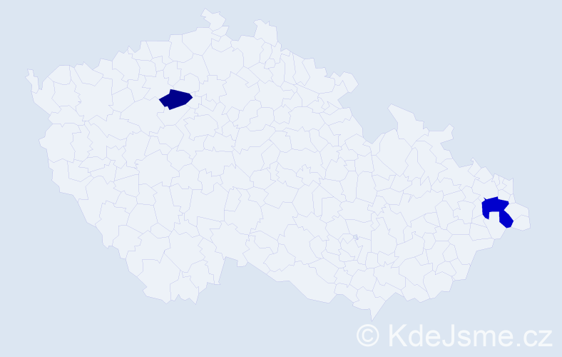 Příjmení: 'Fafaláková', počet výskytů 3 v celé ČR