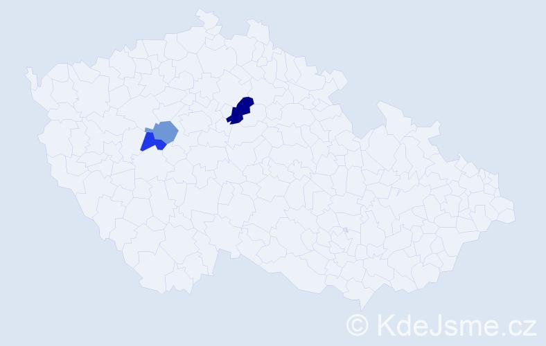Příjmení: 'Cegelská', počet výskytů 4 v celé ČR