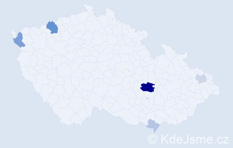 Příjmení: 'Baňová', počet výskytů 16 v celé ČR