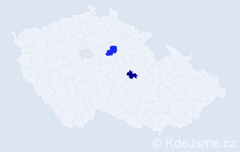 Příjmení: 'Laclavíková', počet výskytů 3 v celé ČR