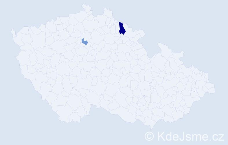Příjmení: 'Karkošiaková', počet výskytů 4 v celé ČR