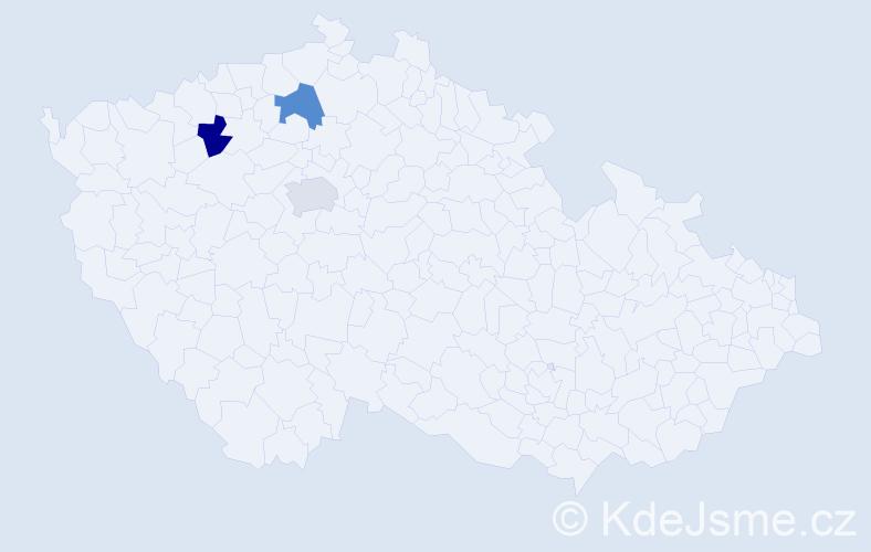 Příjmení: 'Čámková', počet výskytů 3 v celé ČR