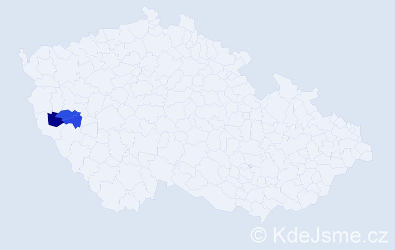 Příjmení: 'Hablovcová', počet výskytů 3 v celé ČR
