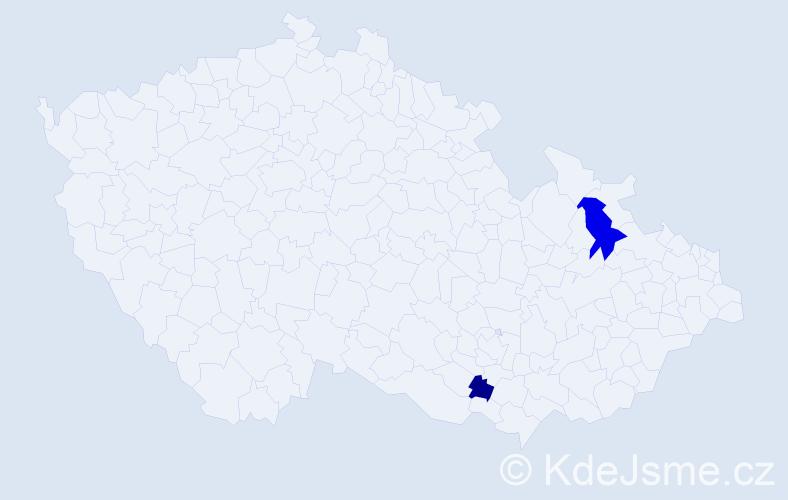 Příjmení: 'Kuspiš', počet výskytů 7 v celé ČR