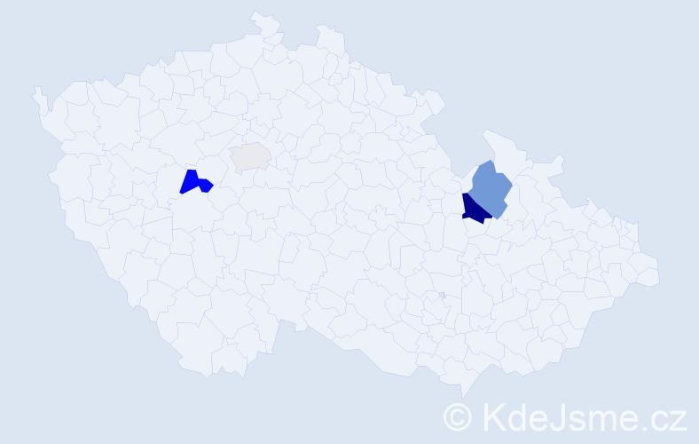 Příjmení: 'Konopas', počet výskytů 8 v celé ČR