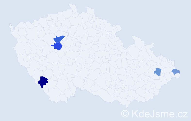 Příjmení: 'Brnovják', počet výskytů 8 v celé ČR