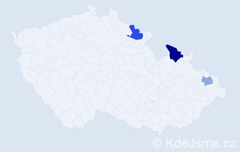 Příjmení: 'Bartusik', počet výskytů 3 v celé ČR