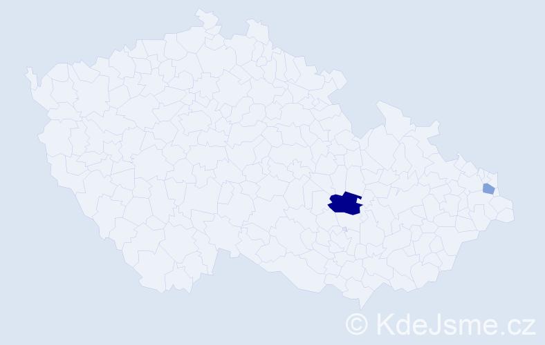 Příjmení: 'Gabaríková', počet výskytů 7 v celé ČR