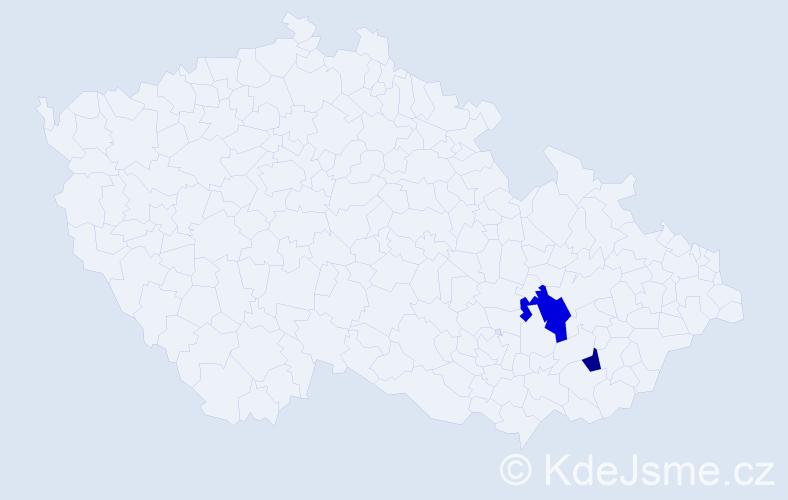 Příjmení: 'Frantis', počet výskytů 3 v celé ČR