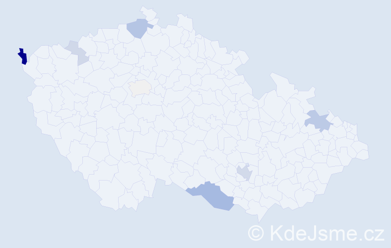 Příjmení: 'Lelovský', počet výskytů 23 v celé ČR